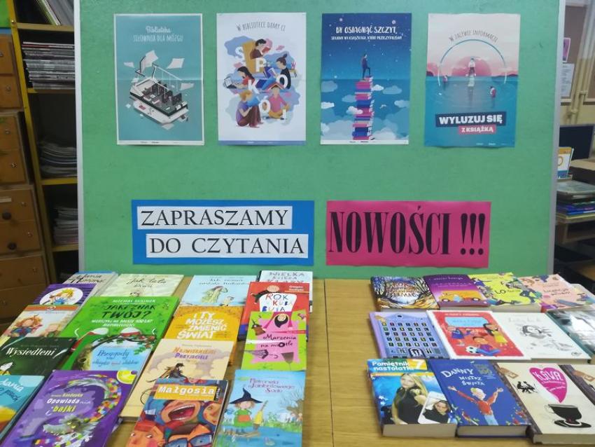 Nowości wydawnicze w bibliotece szkolnej